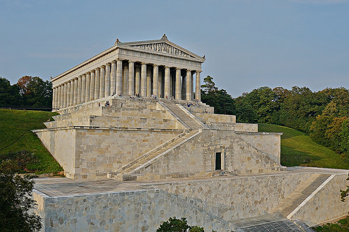 Walhalla built to portray the home of the Norse gods.