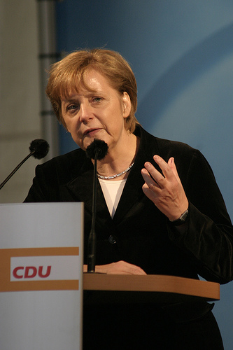 Merkel speaks on Net Neutrality topic at Digitising Europe.