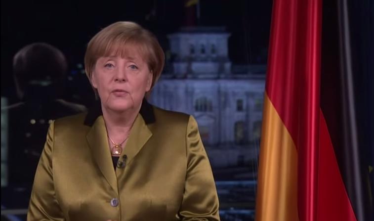 Merkel shames PEDIGA in New Year speech.