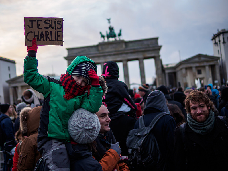 German reaction to Charlie Hebdo attack.