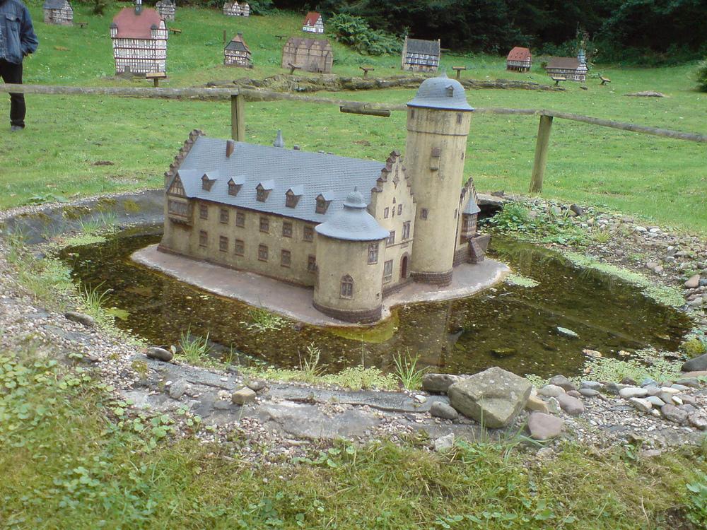 Der Mühlenplatz in Gieselwerder.
