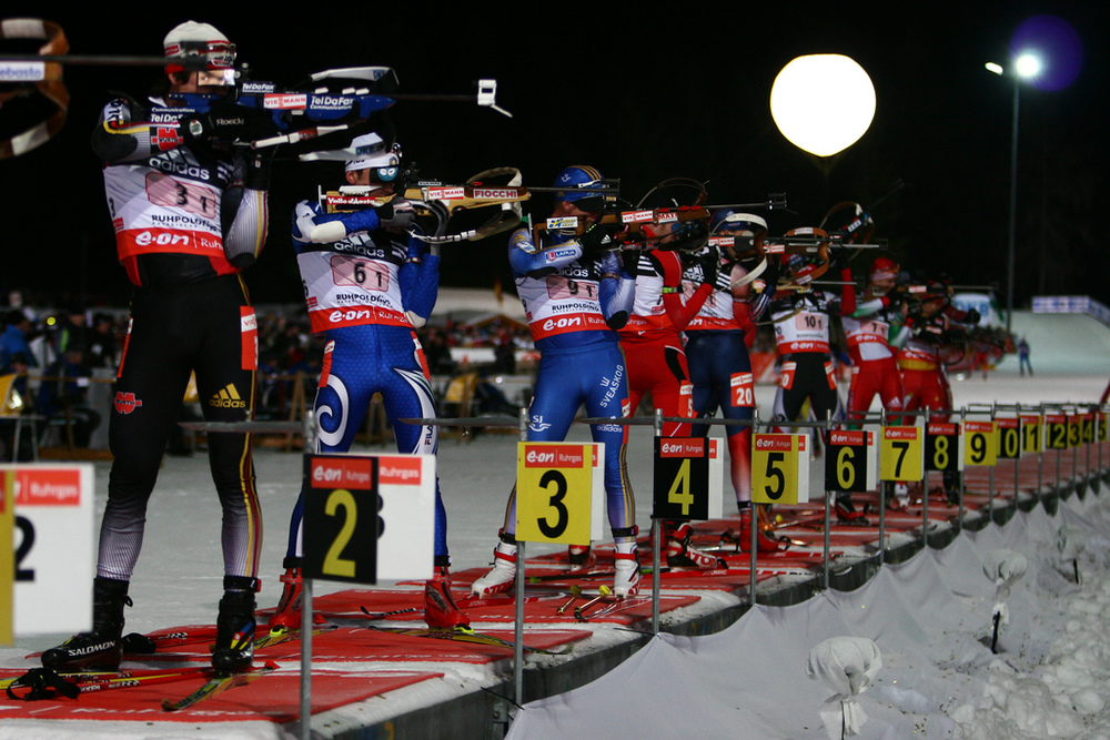 Biathlon is one of many winter sports available in Chiemgau.