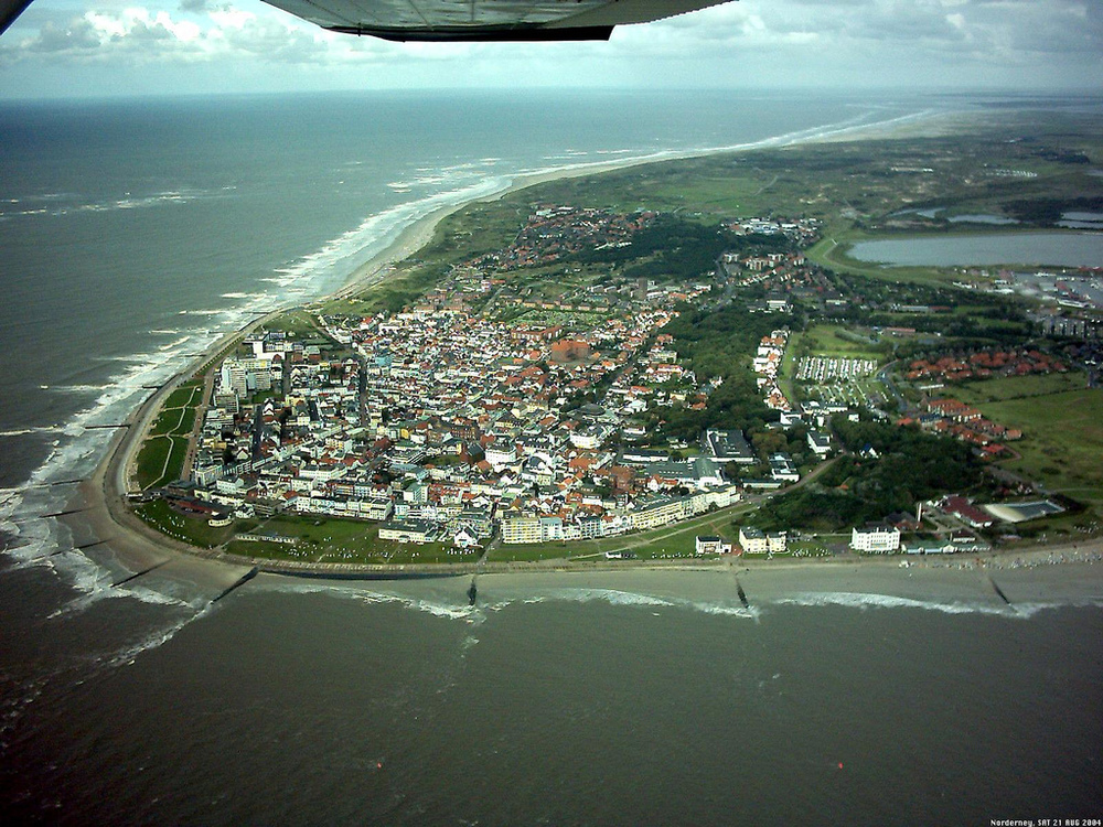 Norderney from the sky.