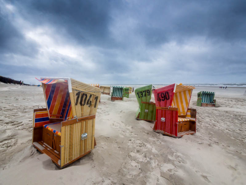 Relax at a beach on the East Frisian Islands.