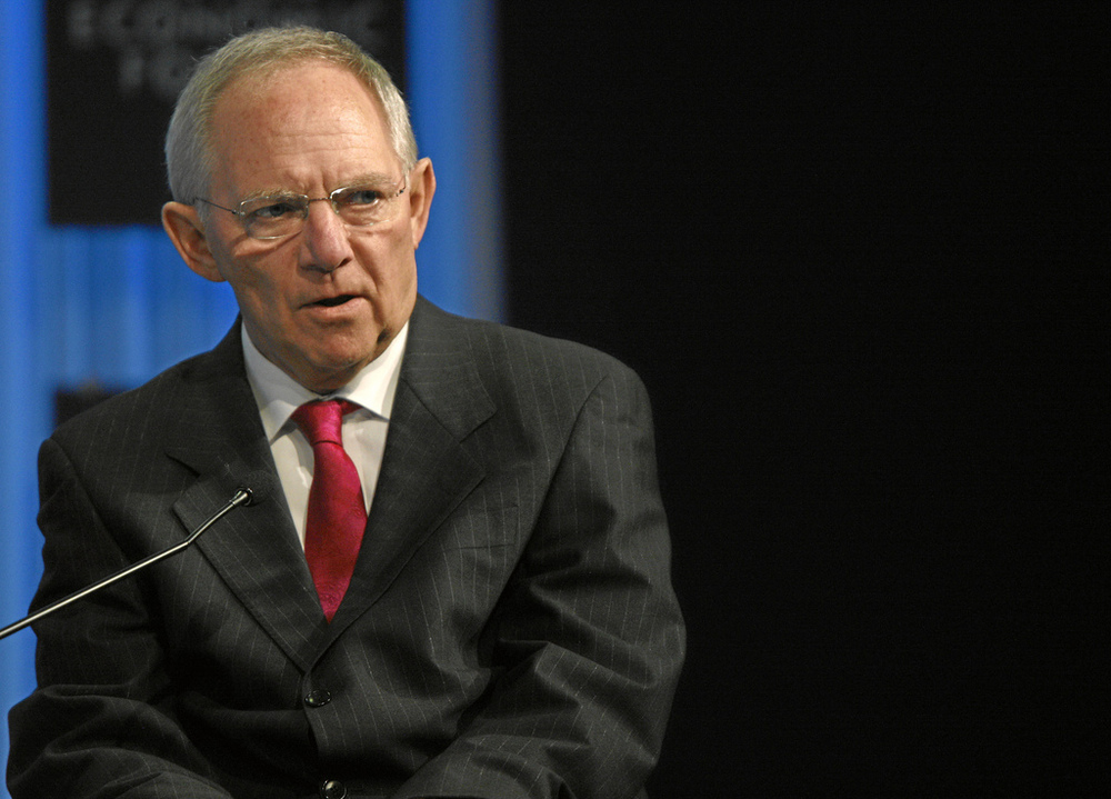 Wolfgang Schäuble: Germany's Finance Minister.