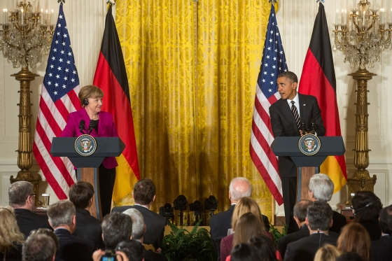 The United States is one of Angela Merkel's many stops this week.