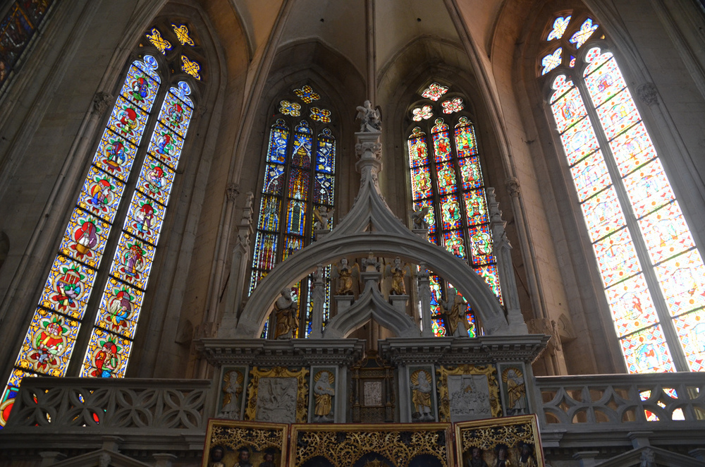 Inside Naumburg Cathedral.
