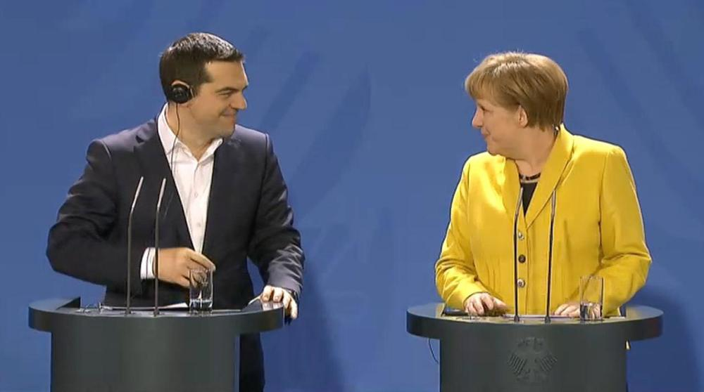 Greece's Prime Minister visited Chancellor Merkel in Berlin.