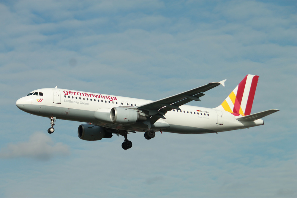 A Germanwings plane.  Andrew Cupitt / Flickr