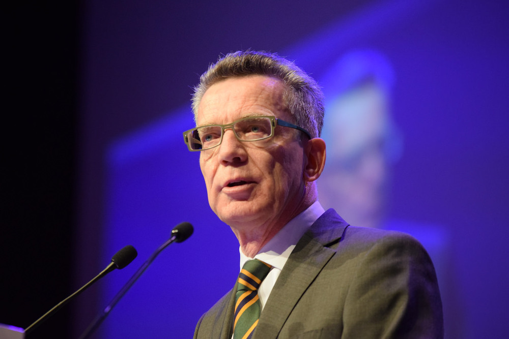 Thomas de Maizière in the news this week both on data policies and refugees.