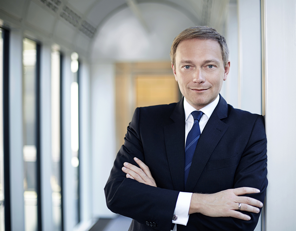 Christian Lidner has been re-elected as leader of the FDP