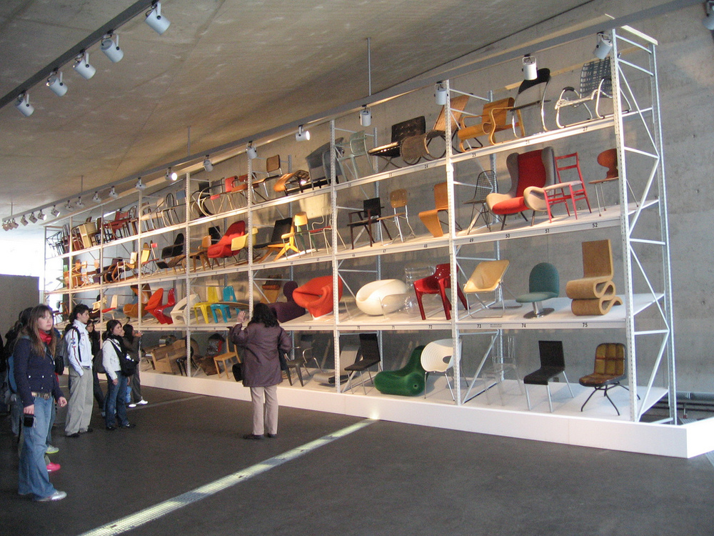 Collection of modern furniture, Vitra Design Museum.