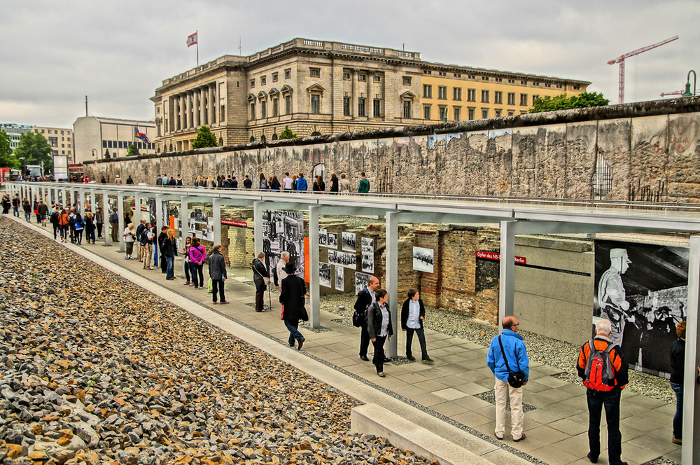 Topography of Terror open-air museum.