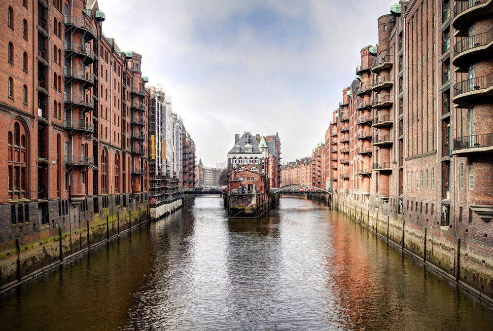 Speicherstadt in Hamburg. Newest UNESCO World Heritage Site in Germany.