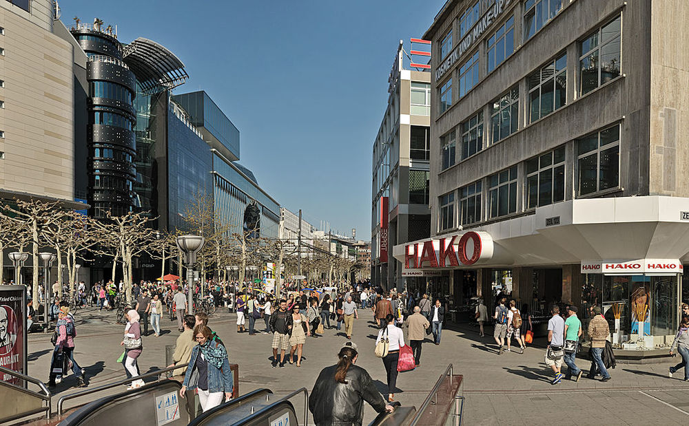 Shopping galore can be found at Zeil in Frankfurt.