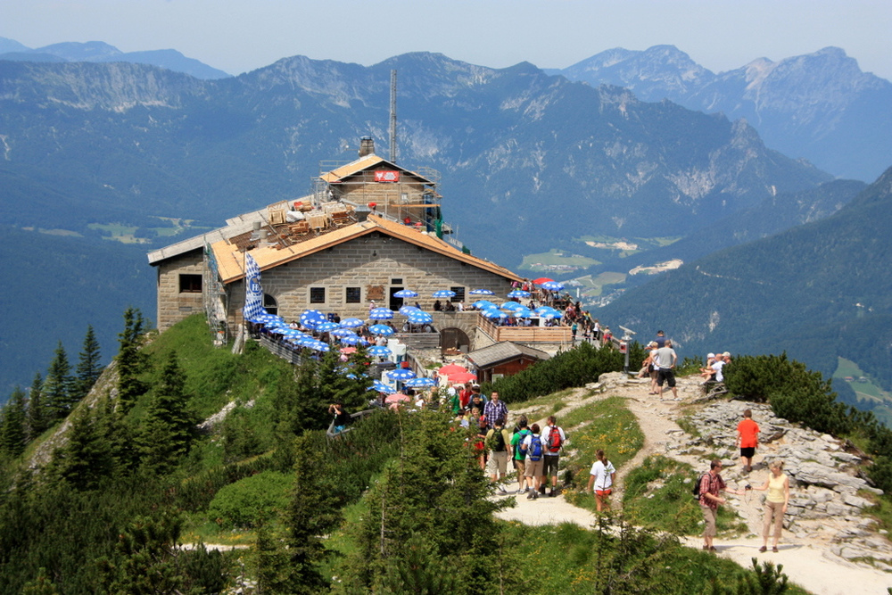 Hitler's vacation house, The Eagle's Nest, is now a restaurant and beer garden.