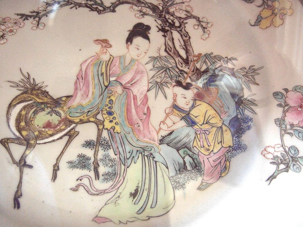 Plate from the Qing Dynasty in the Dresden Porcelain Collection.
