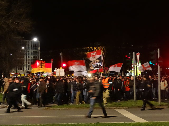 Anti-immigrant PEGIDA demo