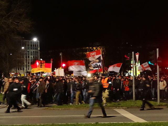 Anti-immigrant PEGIDA demo
