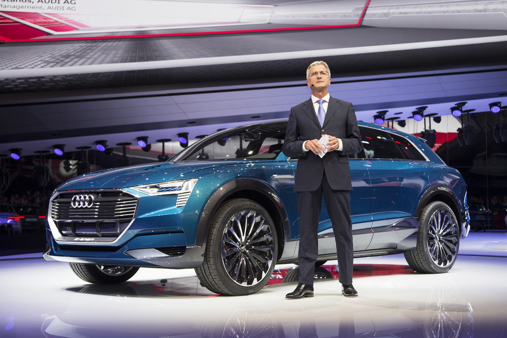 Chariman of Audi, Rubert Stadler at IAA motor show in Frankfurt.