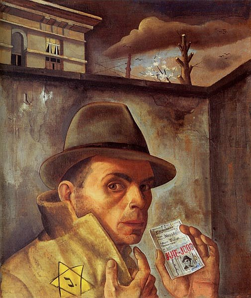 Felix Nussbaum self portrait. One of many paintings at the museum named after him.