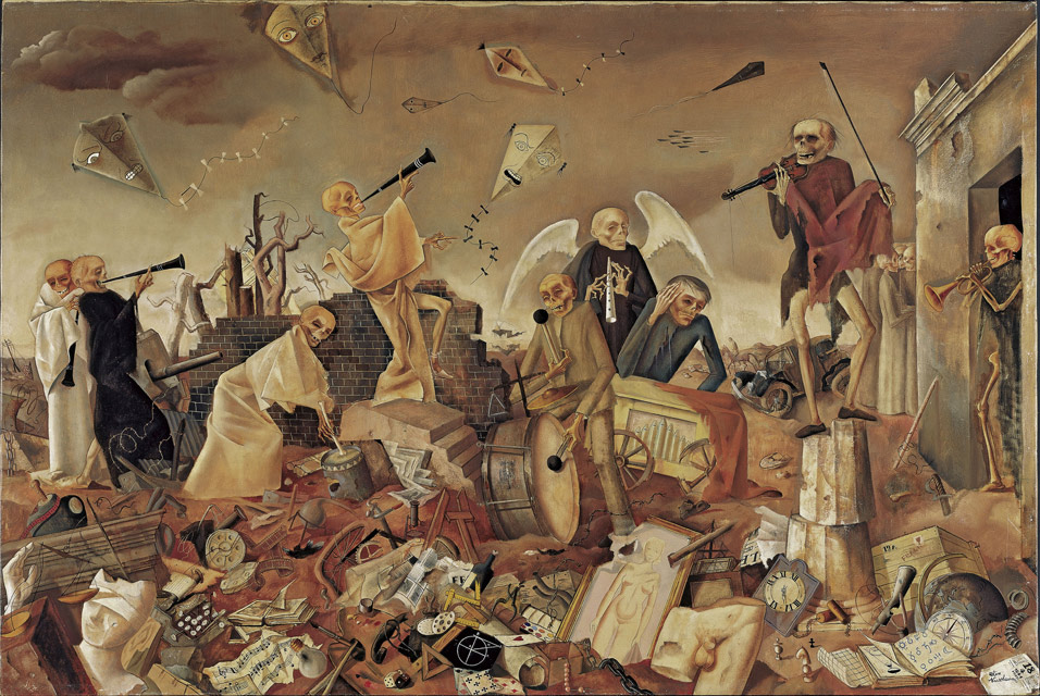 "Felix Nussbaum's painting titled ""Death Triumphant"" located in the Felix Nussbaum Haus in Osnabrück."