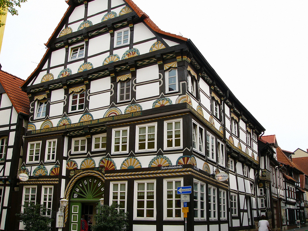 Hamelin is also a city filled with half-timbered houses.