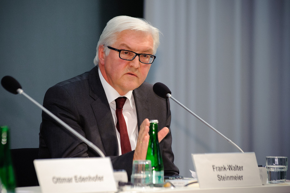 Steinmeier threatens EU states who won't take in required refugees.