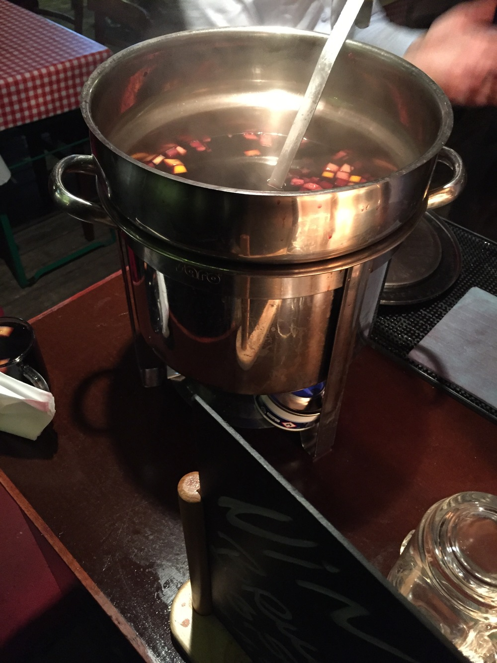 A traditional mulled wine