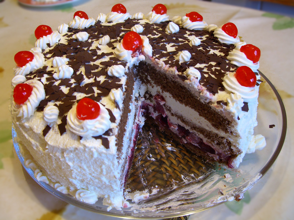 Black Forest cake. Delicious!