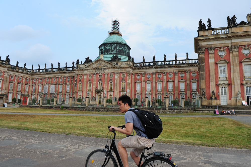 Take in the culture by bike at destination like Potsdam's Sanssouci.