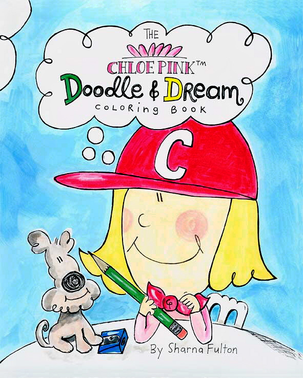 The Chloe Pink Doodle & Dream Coloring Book