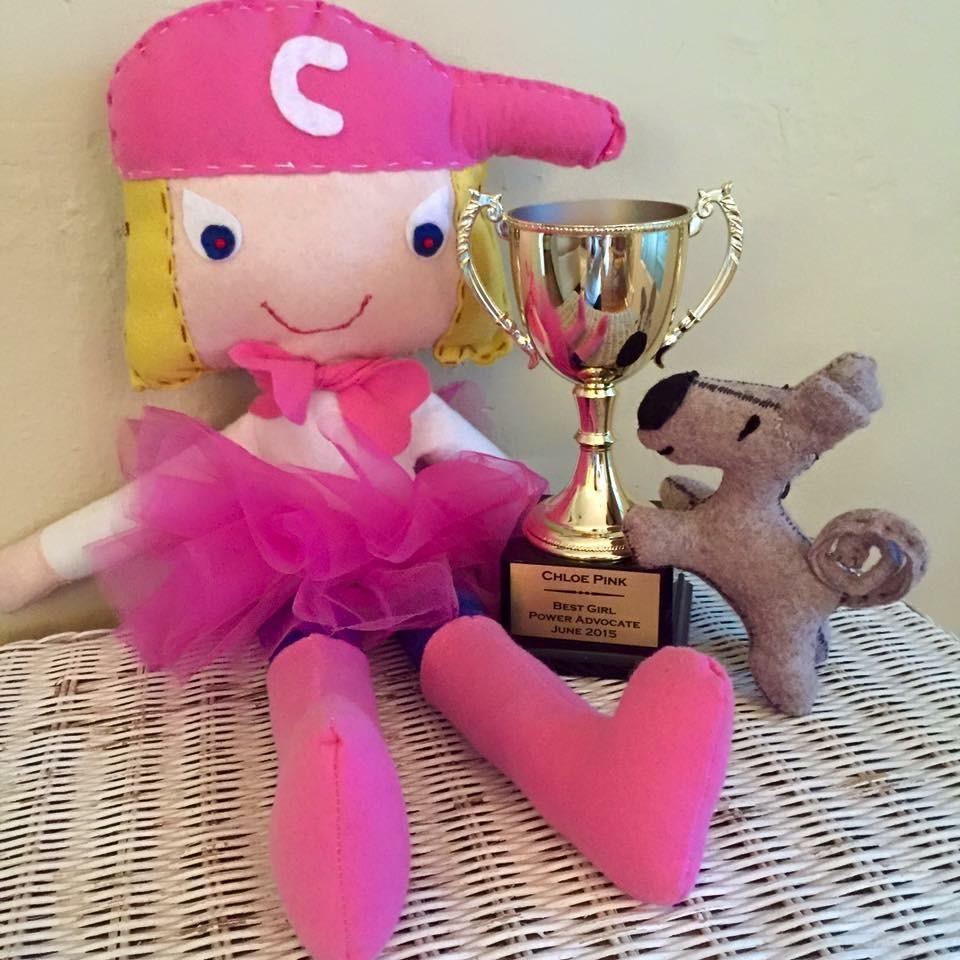 Chloe Pink (TM) Prototype Felt Doll