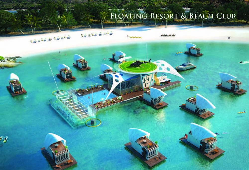 Floating Beach Club Design