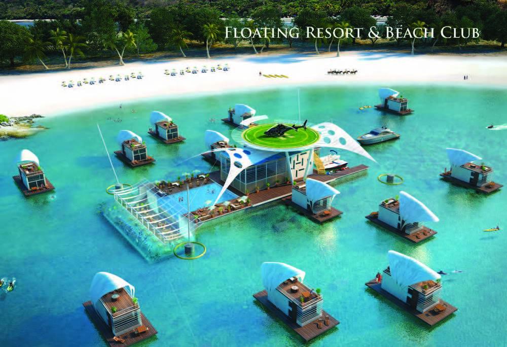Floating Beach Club Design