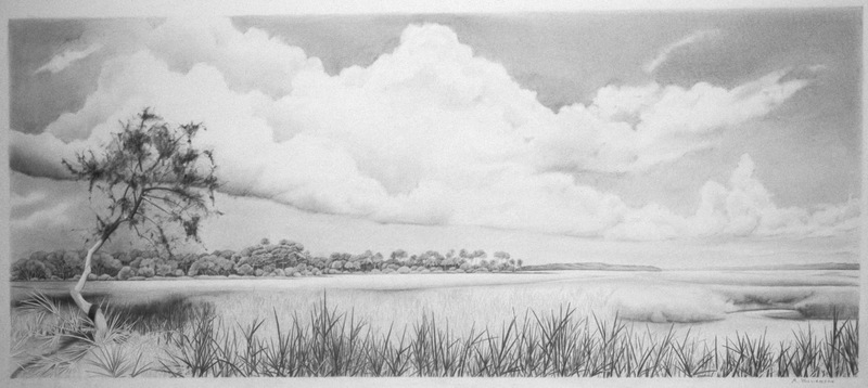 "View of the Mantanzas, 16"" x 48"""