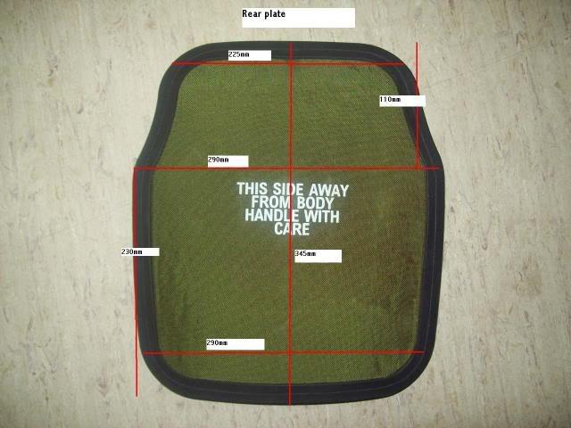 Osprey back plate