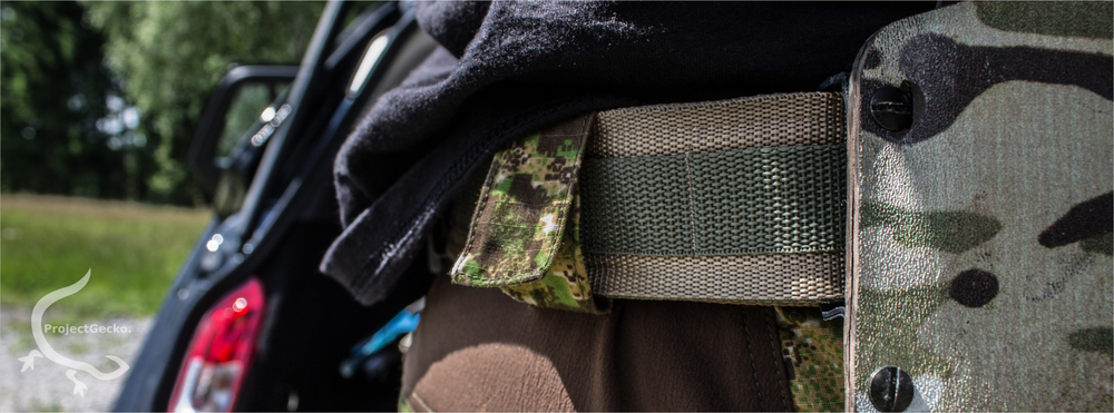 Duty belt with a P8 Holster & 3 magazine holders.