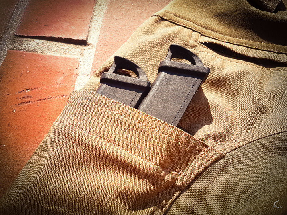 Glock magazines. Passing perfect. Keep in mind that inserting one mag might not keep the mag 100% secured. For us this pocket will be great for storing and having mags on the go - but deifnitley not as a direct source of ammunition. Still great and secured when using two mags!