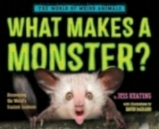 What Makes a Monster?  written by Jess Keating, illustrated by David DeGrand.