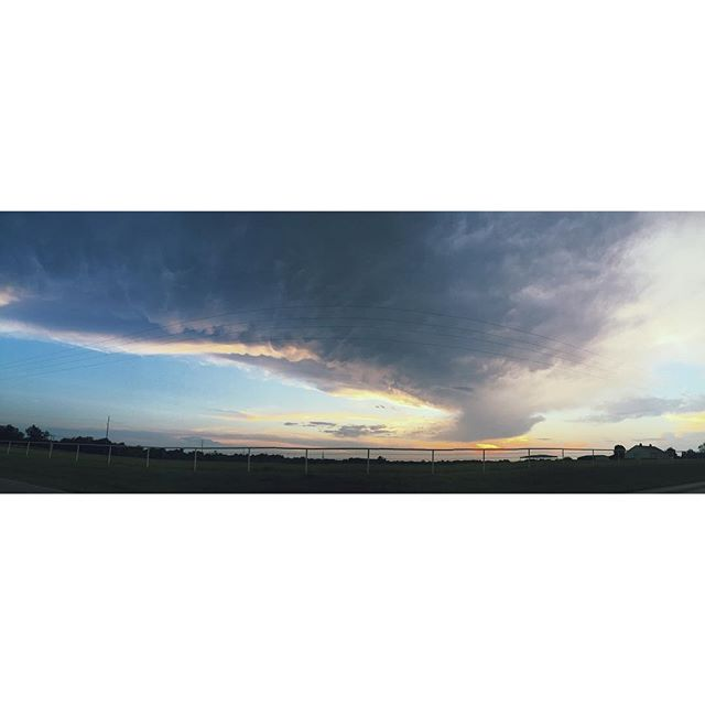 A not so perfect #panorama of Norman's beautiful sunset tonight!