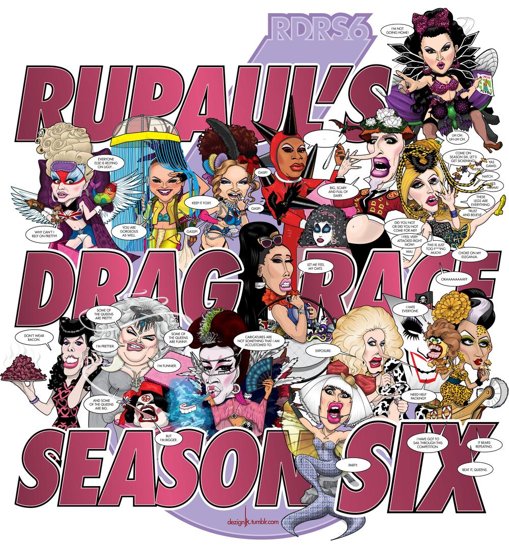The cast of RuPaul's Drag Race Season Six