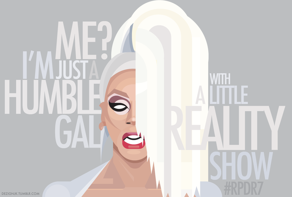 Geometric fan art promo featuring RuPaul