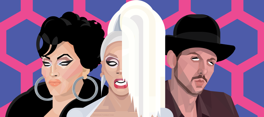 """Don't f*ck it up"" - The judges of Drag Race: Michelle Visage, RuPaul, Santino Rice"