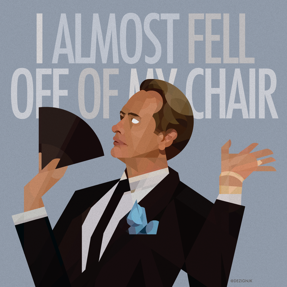 Geometric fan art promo featuring Carson Kressley