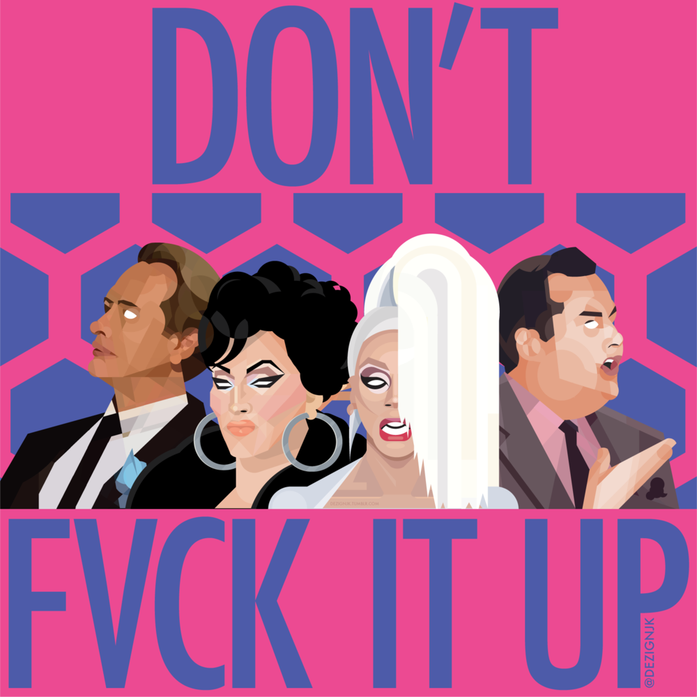 """Don't f*ck it up"" - The (updated) judges of Drag Race: Carson Kressley, Michelle Visage, RuPaul, Ross Mathews"