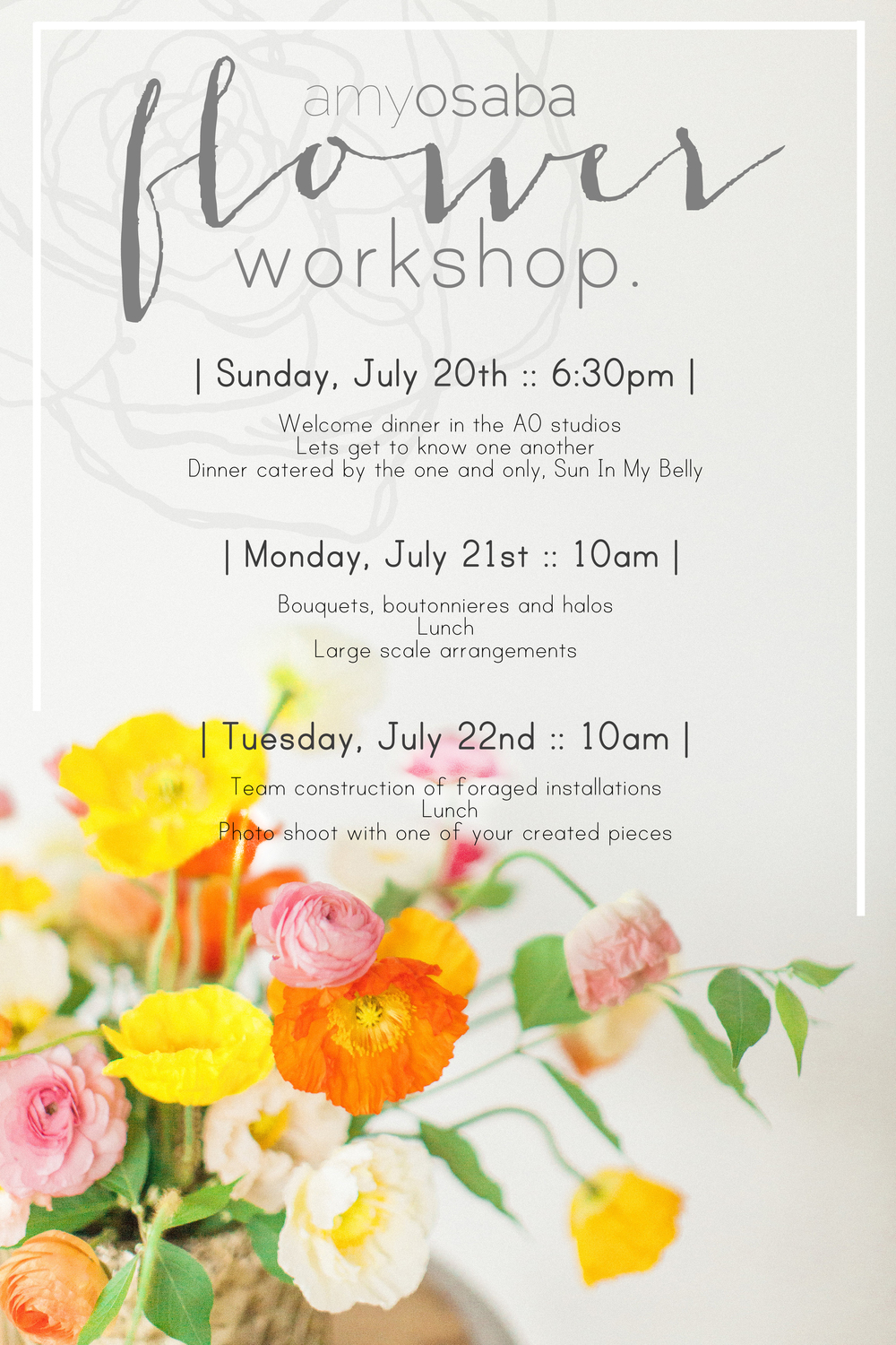 Amy Osaba Flower Workshop | Haley Sheffield