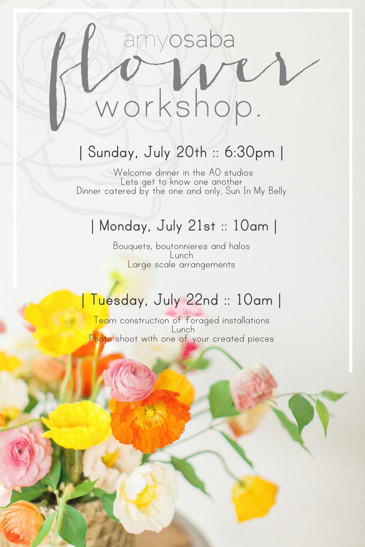 Amy Osaba Flower Workshop | Haley Sheffield
