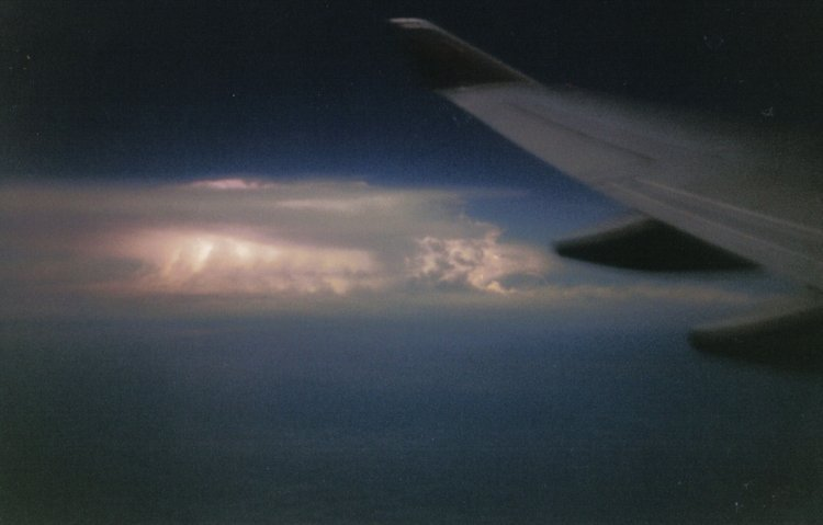 Thunderstorm over the sea between Indonesia and Australia -1998 My first attempt at a long exposure. With no technical know-how and a film SLR that I'd found, all I knew was that the shutter had to stay open for a long time!