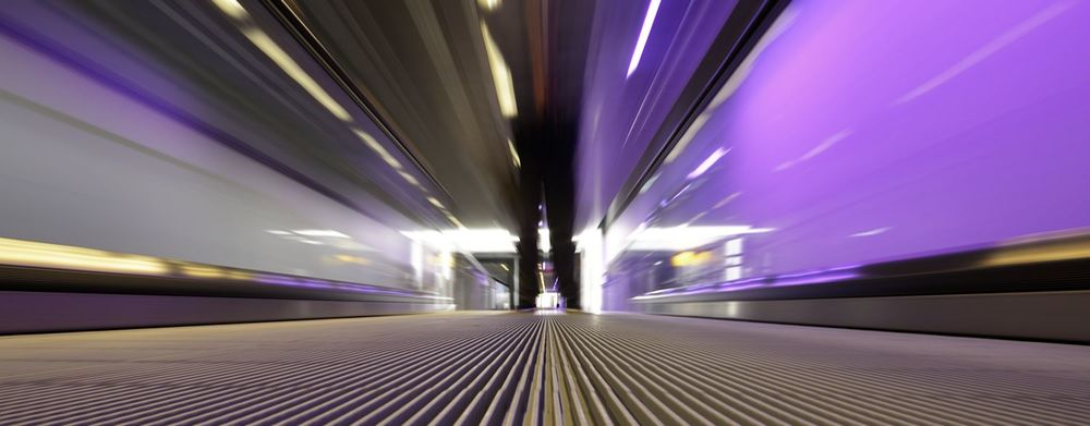 Underneath Terminal 5 at Heathrow are a series of travelators, with no-one around it was time for play around with long-exposures on them!